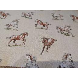 Shabby Horses linen look canvas by Chatham Glyn