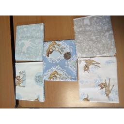 Bambi blue-fat quarters 5 pack