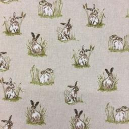 Shabby Hares linen look canvas by Chatham Glyn
