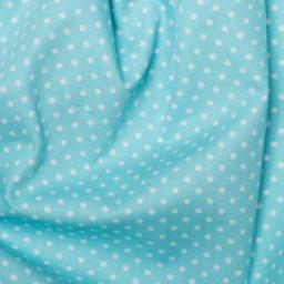 Sky blue Spot cotton poplin
