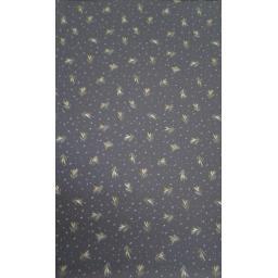 Polyester leaf print- navy