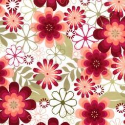 Large floral cotton poplin