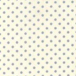 Cream and blue spot cotton poplin fabric.