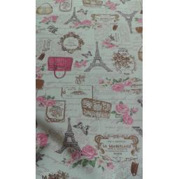 Paris print cotton canvas