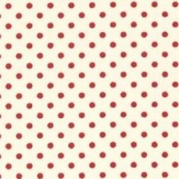 White + red spot cotton poplin