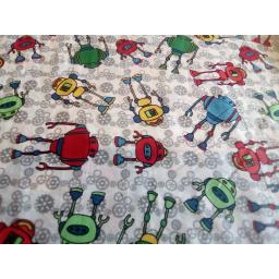 Robots cotton fabric
