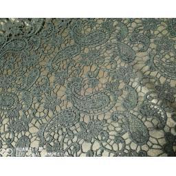 Lace - Green paisley