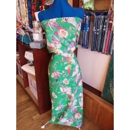 Peachskin- green floral