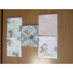 Bambi pink-fat quarters 5 pack
