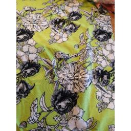 Viscose-lime floral