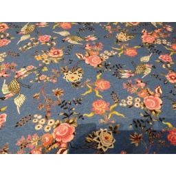 Blue bird floral Jersey