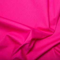 Bright pink cotton poplin (cerise)
