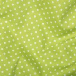 Lime Spot Cotton Poplin