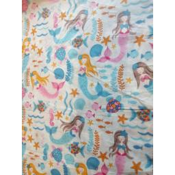 Mermaid cotton fabric