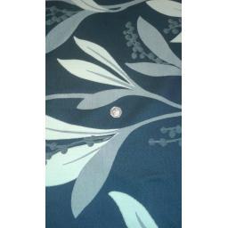 Curtain fabric greys and blues