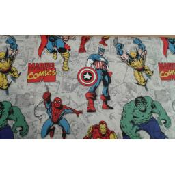 Avengers characters by Marvel cotton fabric