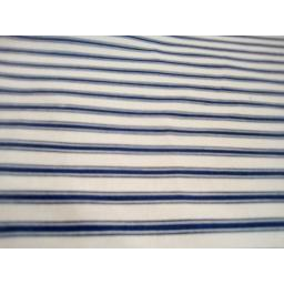 Navy stripe cotton poplin