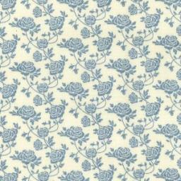 Blue roses cotton poplin