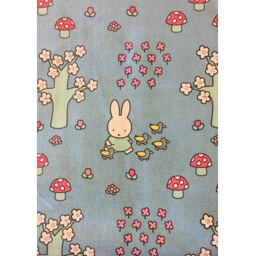Miffy- Springtime- craft cotton