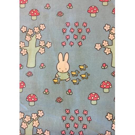 Miffy- Springtime- craft cotton