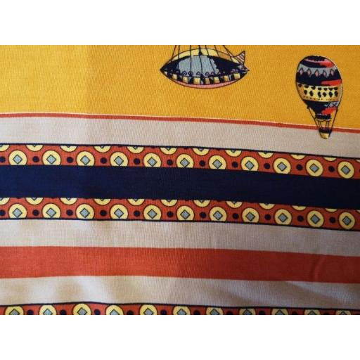 Viscose-mustard hot air balloon double border