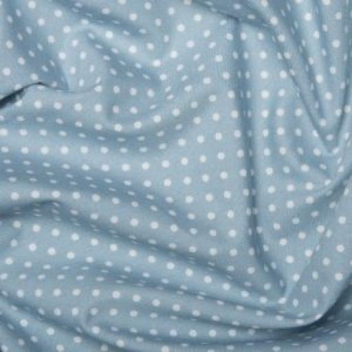 Pale Blue Spot cotton poplin