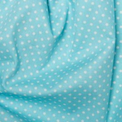 Sky blue Spot cotton poplin