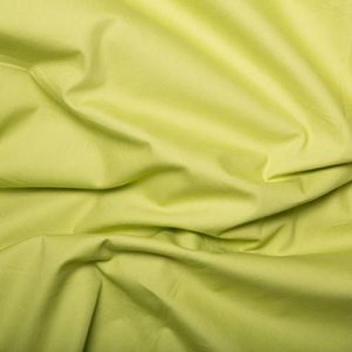 Lime green cotton poplin