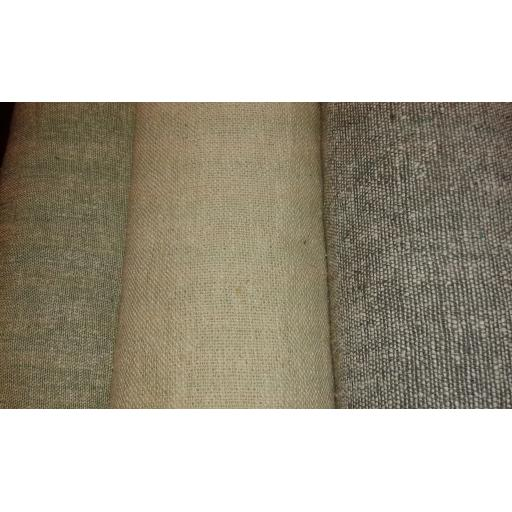 Silk linen mix textured fabric