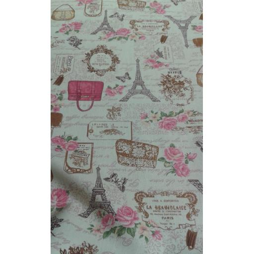 Paris print cotton canvas