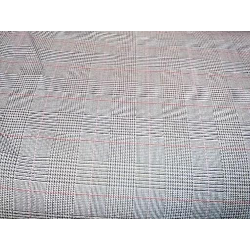 Beige poly viscose Lycra check