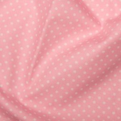 Pink Spot cotton poplin