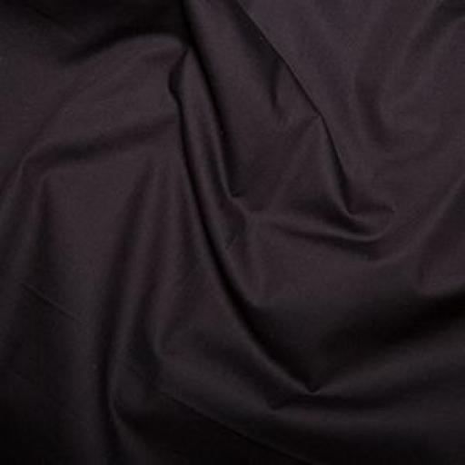 Black cotton poplin