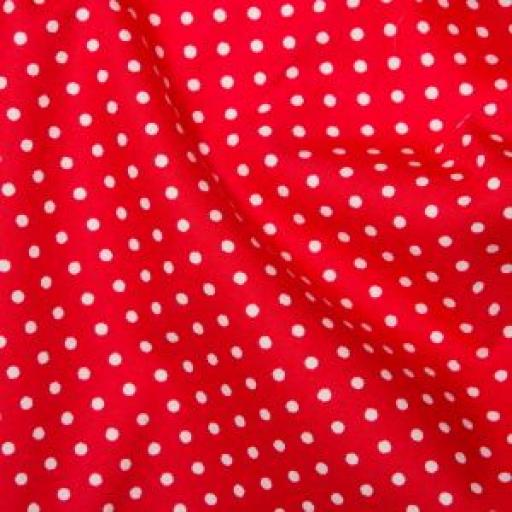 Red Spot cotton poplin
