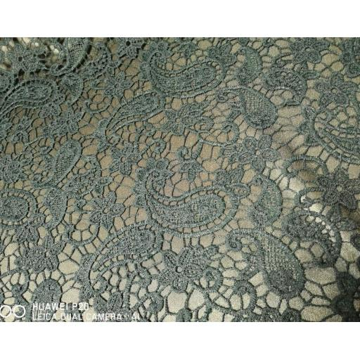 Lace - Green paisley