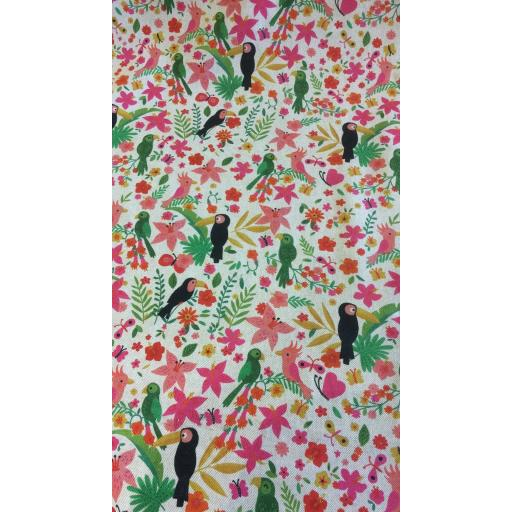 Toucan poly cotton canvas
