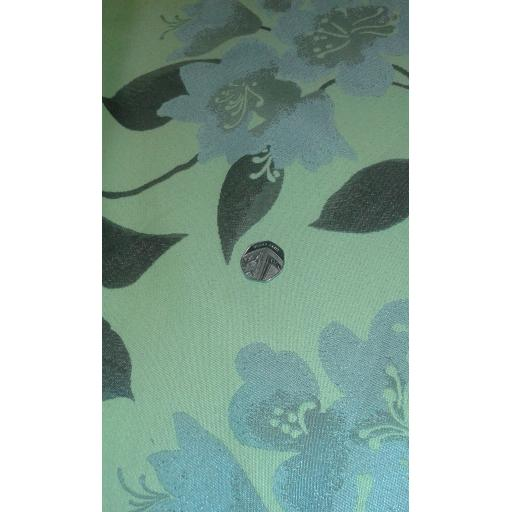 Curtain fabric greens 4
