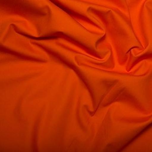 Orange cotton poplin