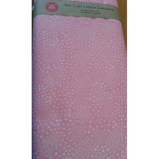 Spots and stars cotton fabric