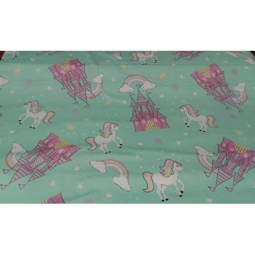 Unicorn cotton fabric (large)