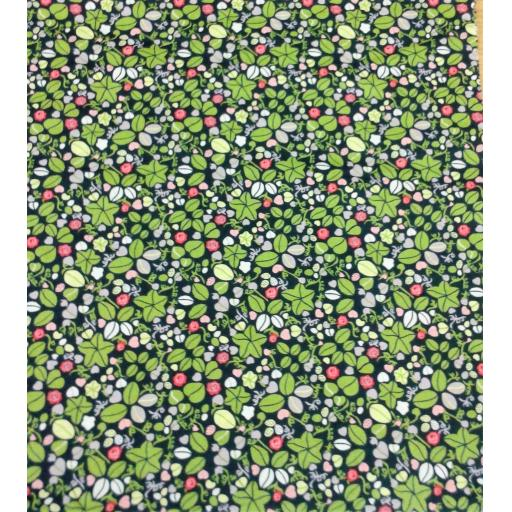 Navy floral cotton lawn