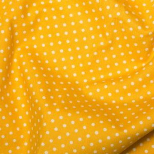 Yellow Spot Cotton Poplin