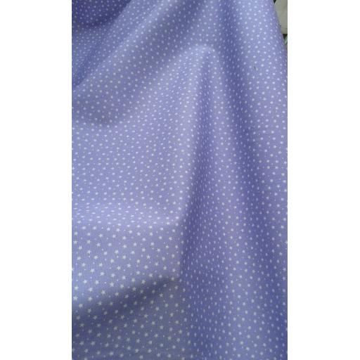 Lavendar star cotton poplin