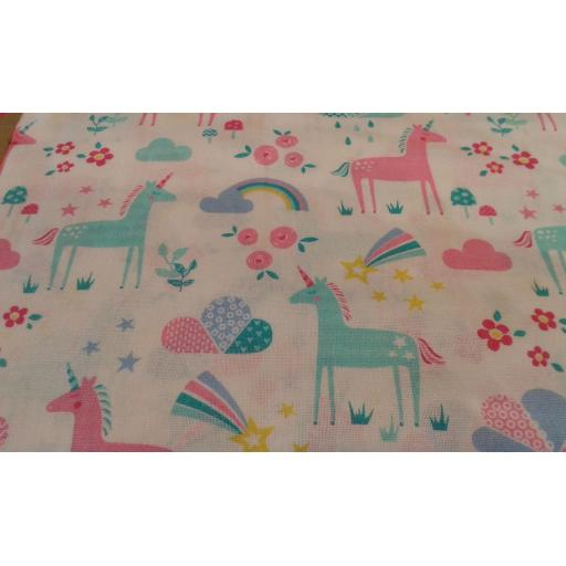 Unicorn cotton fabric