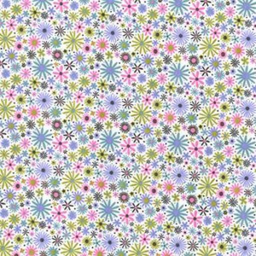 Flower star ditsy cotton poplin
