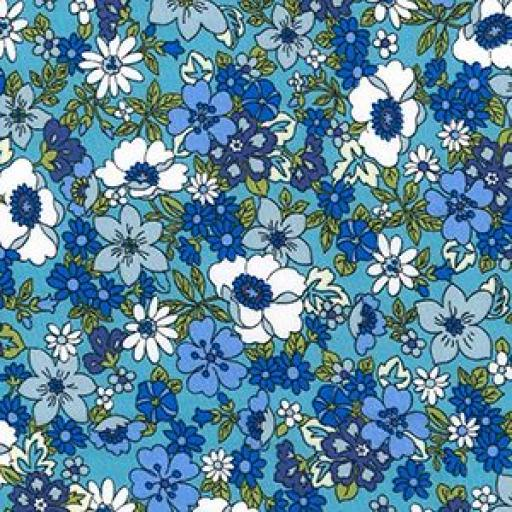 Funky flower cotton poplin