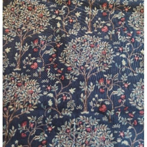 Navy blue tree Pima cotton lawn