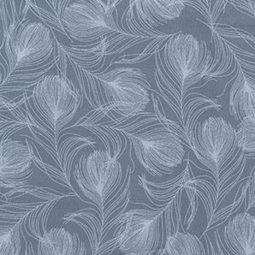 Grey peacock feathers cotton poplin
