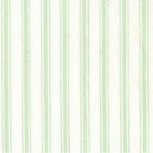 Mint stripe cotton poplin