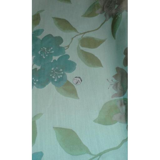 Curtain fabric greens